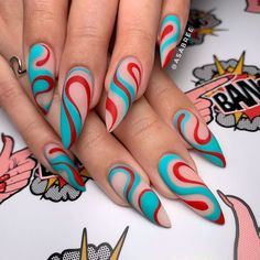 "Get fantastic ideas on ""trending nail designs nail art"". They are actually on call for you on our internet site. Edgy Nails, Funky Nails, Stylish Nails, Swag Nails, Bling Nails, Nail Design Glitter, Nail Design Spring, Nails Design, Crazy Nail Designs"