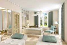 Zu Hause im Luxus – Die Treatment-Räume der Villa Stéphanie in Baden-Baden wirken wie ein elegantes Wohnzimmer