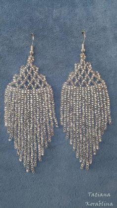 Beaded Earrings Native, Lace Earrings, Seed Bead Earrings, Fringe Earrings, Unique Earrings, Cluster Earrings, Bead Jewellery, Beaded Jewelry, Baubles And Beads