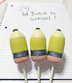 Back to school cake pop pencils