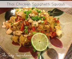 New blog post! Easy & healthy dinner recipe: Low Carb Thai Chicken Spaghetti Squash
