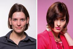 Frisuren & Stylingtipps für rechteckige Gesichtsformen