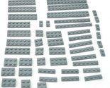 LEGO Mixed Grays Base Plate 1X 2X Pieces Brick Block Bulk Lego Mixed Lego Lot 25 #Lego