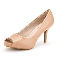 50% OFF SALE PRICE - $12.2 - DREAM PAIRS OL Women's Elegant Classic Open Toe Low Heel Wedding Party Platform Peep Toe Pumps Shoes