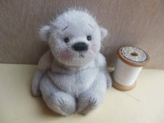 Willibob By Barney Bears - Here is so so sweet little Willibob, an amazingly cute little baby bear, he has absolutely stunning twinkling silver fur! it's incredibly soft and silky with a deep fluffy underpile, so cute!He is a very endearing little bear, just over 4 inches, approx 3 inches when sitting, he is...