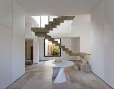 Betontreppe innentreppe modern-robust ideen-innenarchitektur