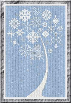 Alessandra Adelaide ~ Snowflake Tree Cross Stitch Pattern