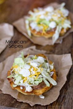 Sopes Perfect for Cinco de Mayo! Traditional Mexican Sopes that are gluten free and vegetarian.Perfect for Cinco de Mayo! Traditional Mexican Sopes that are gluten free and vegetarian. Authentic Mexican Recipes, Mexican Food Recipes, Ethnic Recipes, Mexican Meals, Mexican Desserts, Authentic Mexican Sopapilla Recipe, Vegetarian Mexican Food, Drink Recipes, Filipino Desserts