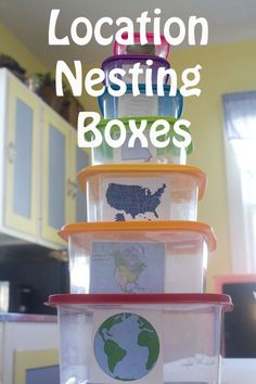 """a smart twist on the """"my place in the world"""" idea!  When I worked in an elementary school, I always thought that some sort of nesting activity would help with the difficult concept of county vs. state vs. country etc.   and here ya go!"""