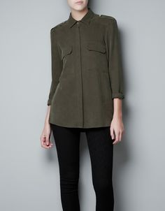 OVERSHIRT WITH PATCH POCKET -