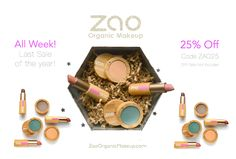 Last Sale of the year! #GiftZAO 25%Off Site-Wide Code ZAO25  (already applied on gift sets) Safe healthy beauty for everyone!   100% #Natural #ChemicalFree  #EcologicalSophistication #NoNanoparticles #ParabenFree #NoPhthalates #SafeMakeup #Refillable #Sustainable #CrueltyFree   #CleanBeauty  #LuxuryMakeup #CleanMakeup #NoAnimalTesting #HealthyLiving #Makeup #MakeupLover #OrganicMakeup #LuxeLife  #ZaoMakeup #ZaoOrganicMakeup