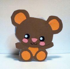 Handmade Kawaii Teddy Bear Card Cardstock by justcreativecards, $3.50