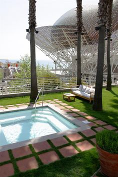 Private pool at Hotel Arts Barcelona