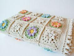 Dada's place: Primavera flowers baby blanket