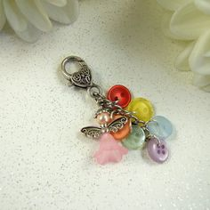 Bag Charm, Rainbow Guardian Angel  - Free UK P&P £4.75