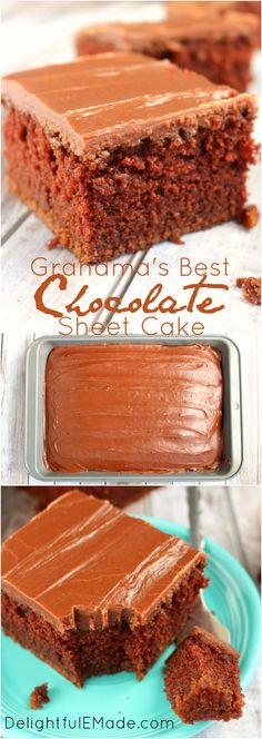 Super moist, chocolaty and completely delicious!  This decadent chocolate sheet cake is topped with a luscious chocolate icing making it my all-time favorite chocolate cake!  Once slice won't be enough!