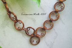 Stunning copper belt from etsy....this would make a great bracelet or necklace too