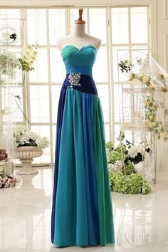 A-Line Sweetheart Chiffon Beaded Prom Dress,Evening Dresses,elegant prom dresses,
