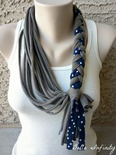 Bella Infinity Braided Scarf Jersey Fabric by BellaInfinityScarves