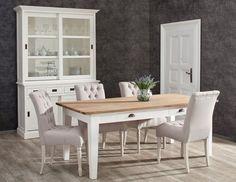 Stół Milton white&natural 200x100x78cm, 200x100x78cm - Dekoria #white #meble #biale #furniture #stolik #chair #interior #idea #design