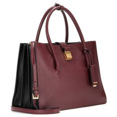 Miu Miu Leather Tote (139.515 RUB) ❤ liked on Polyvore featuring bags, handbags, tote bags, genuine leather handbags, tote handbags, burgundy leather handbag, leather handbags and red leather handbag