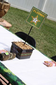 """Photo 13 of Military / Birthday """"Army Party"""" Camouflage Birthday Party, Army Birthday Parties, Army's Birthday, Camo Party, Birthday Ideas, Nerf Party, Party Party, Army Party Decorations, Birthday Party Centerpieces"""