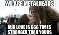 Metalhead couple