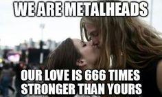 Metalhead couple