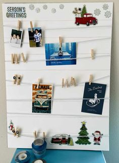 Easy to make memory boards (under $ 5 DIY present), decorate your home and/or your Camper. Easy to make and looks stunning. – Colorful Designer Classy Christmas, Christmas Room, Diy Christmas Gifts, Easy Christmas Decorations, Room Decorations, Christmas Messages, Christmas Stickers, Memory Boards, Easy Arts And Crafts