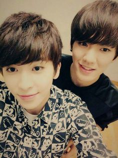 The two youngest members of the team! Hwanhee and Xiao <3 | Posted on Up10tion's Facebook ♡ |