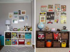 #organização Veja como você pode usar nichos para organizar o quarto das crianças: http://bbel.me/Zyg9Rc.