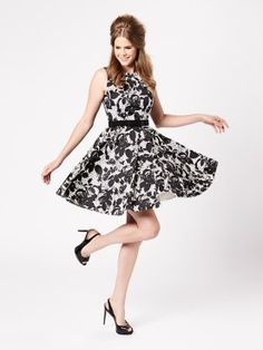 Prepare to turn heads in the show stopping Lara Dress. With a subtle matte shine finish, it features a monochrome floral print over a polka dot print background. With a full circle skirt (perfect for twirling in) you'll feel elegant and feminine. Fashion Dresses, Dresses Dresses, Full Circle Skirts, Review Fashion, Review Dresses, Well Dressed, My Wardrobe, Beautiful Dresses, Dress Skirt
