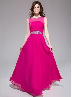 Special Occasion Dresses - $153.99 - A-Line/Princess Scoop Neck Floor-Length Chiffon Prom Dress With Ruffle Beading  http://www.dressfirst.com/A-Line-Princess-Scoop-Neck-Floor-Length-Chiffon-Prom-Dress-With-Ruffle-Beading-017041169-g41169