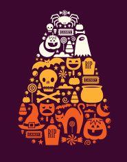 Candy Corn Design vector art illustration
