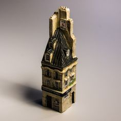 Collectible Miniature House: France. Paris. Beauty Institute (Height 10 cm)