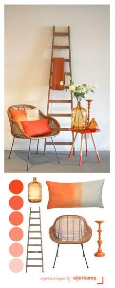 oranje geeft je interieur een harmonische en zachte uitstraling gecombineerd met houten materialen is oranje voor elk seizoen