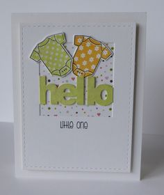 Good morning, today I'd like to share two cards I made using the soon to be released Littlest Onesie stamp set from Clearly Besotted. I'm a huge fan of Little Onesie, so this is a great addition to t