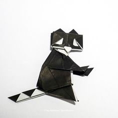 Racoon! #origami #origamis #origamist #origamiart #artedeorigami #摺紙藝術 #origamikunst #faltpapier #origamipapers #papierkunst #artedepapel… Origami Animals, Racoon, Origami Art, Fighter Jets, Batman, Superhero, Paper, Character, Papercraft