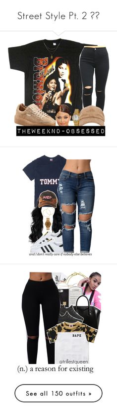 """""""Street Style Pt. 2 """" by deany ❤ liked on Polyvore featuring Puma, 1928, Bulova, Amrapali, Melissa Odabash, adidas, American Apparel, Benefit, RetroSuperFuture and Hervé Léger"""