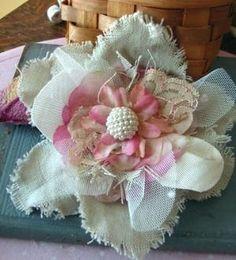 fabric flower by frankie