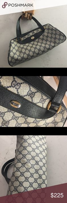50cd61253fa Gucci signature handbag (1985) Authentic signature Gucci bag from 1985 in  impeccable condition.
