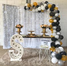 75 creative and economic ideas Paper Rosettes, Tissue Paper Flowers, Balloon Backdrop, Balloon Decorations, Simple Birthday Decorations, Tulle Table, Dream Party, 18th Birthday Party, Childrens Party