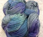 hand dyed Yarn bamboo cotton worsted 247 yds songbird