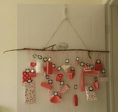 Advent Calendar - Paper craft boxes custom made to fit treats and baubles