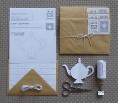 { Today I ♥ } Les théières en papier à fabriquer soi-même | www.decocrush.fr