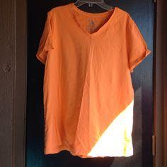 Orange shirt Orange neck shirt Faded Glory Tops Tees - Short Sleeve