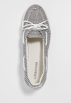 lou striped boat shoe | maurices