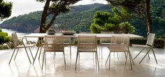 The Branch collection, an outdoor furniture collection from Tribù in aluminium, designed by Lievore Altherr Molina