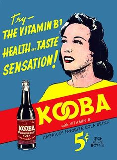 "In 1940, Victor Fox, publisher of WonderWorld Comics,  conceived an audacious marketing scheme. Inspired by the success of Pepsi and Coca-Cola, he decided to promote Kooba Cola, ""The World's Newest and Best-Tasting Soft Drink!"" in ads in his entire line of comic books.  But didn't exist, except as a couple of mocked-up bottles used as props in ads and as art reference for illustrators. Fox thought he could create a demand for Kooba, then license the name to one of the big soft drink…"