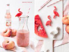Flamingo aus Wassermelone - schöne Idee!